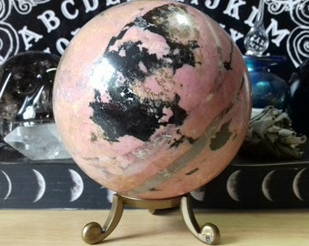Rhodonite Crystal Sphere - Rhodonite Polished Crystal Ball - Crystal Sphere - Crystal Decor - Crystal Healing - Crystal Collection - RH7