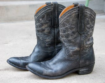 """Old Gringo Black Distressed Cowgirl boots Womens size 10 M 11"""" shaft"""
