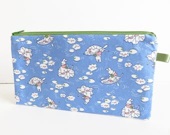 Whimsy Print Zippered Pencil Case