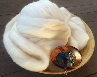 Organic Polwarth Roving Top Spinning Fiber - 4 ounces