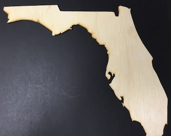 Florida Sign FL Wooden Cutouts - Large Sizes - Shapes for Projects or Other Use