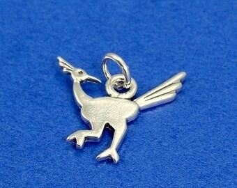 Roadrunner Charm - Sterling Silver Road Runner Charm for Necklace or Bracelet