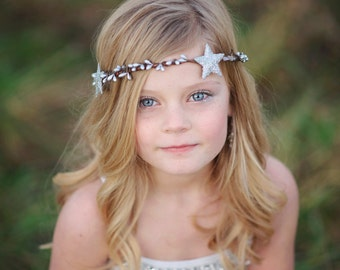 Stars Hair Crown. star headband, Silver Stars, Gold Stars, Stardust, Twinkle, stars headpiece, cosmic, star trend, wedding hair accessory
