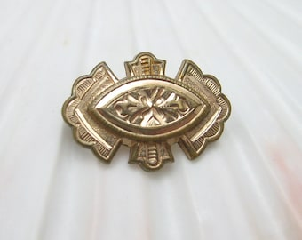Small Victorian Brooch Etruscan Revival Jewelry