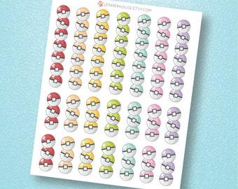 Pokemon EC Planner Checklist Stickers, matte or glossy planner stickers, life planner stickers, erin condren filofax, mambi happy planner