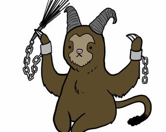 Krampus sloth print