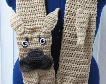 Great Dane - Crochet Scarf Pattern - Floppy or Pointy Ears Pattern - Great Dane Pattern - Dog Lover Gifts - Men's Scarf - Women's Scarves
