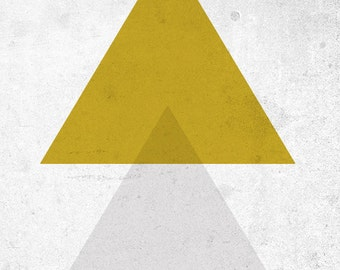 Triangles - Giclee Print