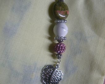 The stones Unakite friends pendant necklace & Howlite