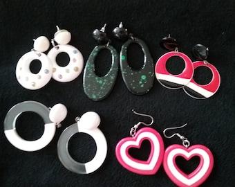 Vintage 5 set of  Dangle Earrings