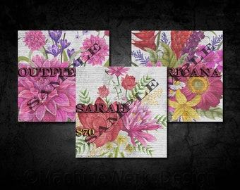 LLR Facebook Album Covers Style Price, Social Media Collage Sets, IFR Marketing Materials, Hand Drawn Vintage Floral, Digital, MachineWerks