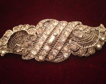 Victorian broch with rhinestones