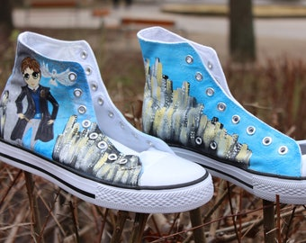 Harry Potter Custom Converse, Personalized Sneakers, Hand Painted Shoes, Disney Inspired Shoes, Custom Shoes, Sport Shoes, Athletic Shoes
