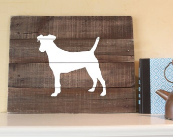 Jack Russell Terrier, Jack Russell Sign, Reclaimed Wood Sign, Jack Russell Art, Jack Russell Artwork, Dog Memorial, Jack Russell Gift