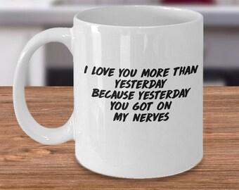 anniversary mug her, mugs his hers, mug for her, mug for her, mug for wife, mug for husband, funny wife mug, funny husband mug, wife mug