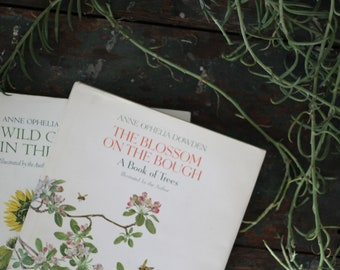 Vintage Naturalist Reference Books // Nature Lovers // Books of Trees & Weeds / Anne Ophelia Dowden
