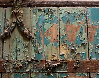 "Fine art photography color photograph old Philadelphia Pennsylvania peeling paint texture rustic historic vintage wall art ""Cell 477"""