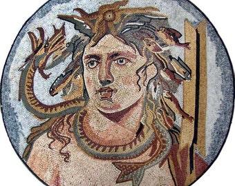 Greek god of the Sea Mosaic Murals