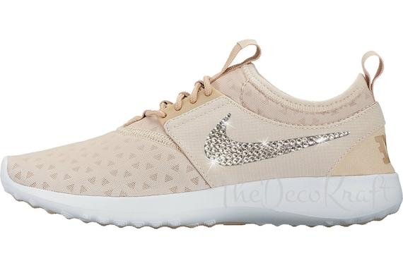 Custom Bling Womens Nike Juvenate Oatmeal, Linen, White Swarovski Crystal  Bling Sneakers, Running Shoes, Tennis Shoes, Nikes