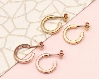 Gold Huggie Mini Hoop Earrings (HBE121)