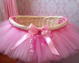 Tutu Basket, Tutu Gift Basket, Tutu Baby Shower Basket, Wedding Basket, tutu Easter Basket, Newborn Photo Prop Basket