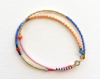 Poppy Double Strand Seed Bead Bracelet