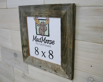 "8x8 BarnWood [Thin x 2""]  Picture Frame"