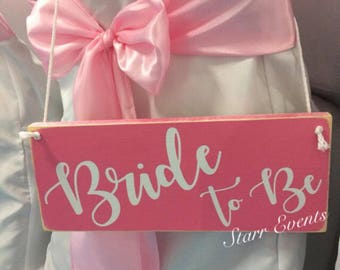 Wedding signs. Bridal shower decorations. Rustic Wedding decor. Bride to be signs. Bride to be chair signs. Bride signs Wedding shower decor