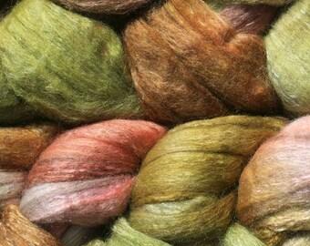 Yak Silk Merino Spinning Fiber - 'Velvet Grass'