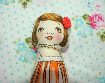 Vintage Inspired Cloth Paper DOLL Kristy Marie