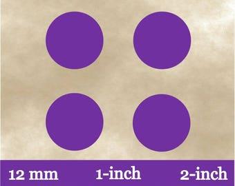 Digital Purple Planner Stickers~Plain Envelope Seals~Purple Pendant Circles~Purple Round Sticker Labels~Bottle Cap Image~12 mm~1 inch~2 inch
