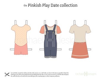 Printable Paper Doll Clothes - Instant Download - Pinkish Play Date