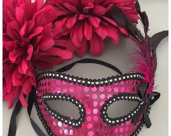 Masquerade Mask, Pink Costume Mask Ref:050
