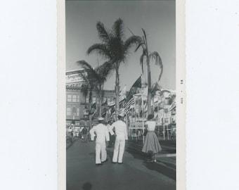 Vintage Snapshot Photo: Shore Leave, 1956 (81635)