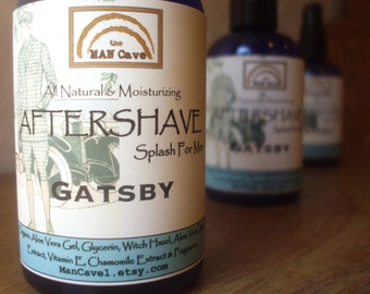 AFTERSHAVE - GATSBY - All Natural Face Conditioner with Aloe, Green Tea and Chamomile by Man Cave Soapworks