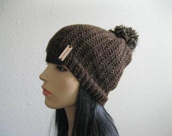 Knit Beanie -  Brown Beanie Hat - Hand Knit Beanie Hat - Knitted Beanie- Chunky Beanie Hat - Knitted Beanie Hat - Beanies - Knit Beanie Hat