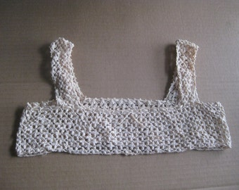 Early 1900's Bodice Hand Crocheted Vintage