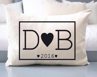 Valentine gift, Black monogram, 2nd anniversary, cotton anniversary, best selling, anniversary gift, long distance dating, fiance gift