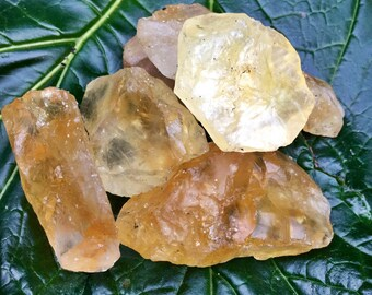 Raw Citrine Crystals   Rough Citrine Crystal Healing, Reiki, Third Chakra, Solar Plexus, Spiritual, Wicca, Yellow Gemstones for Power