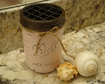 Ball Pint Mason Jar, 17 Add'l Colors, Toothbrush Holder, Kitchen, Bathroom, Bronze Pump, Nickel Pump, Wide Mouth Pint
