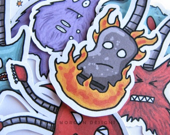 Guitar Stickers, Paper Stickers, Journaling, Sticker Flakes, Stationery, Scrapbooking, Electric Guitar, Acoustic Guitar, Funny Guitar