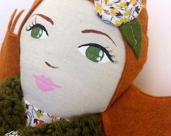 SALE doll rag doll cloth dolls fabric dolls tag dolls fabric doll handmade cloth dolls heirloom doll handmade rag doll