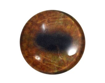 30mm Brown Moose Eye for Animal Pendant Jewelry Making or Taxidermy Doll Eyeball Flatback Handmade Cabochon