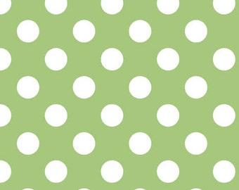 CLOSEOUT SALE Green Medium Dot by Riley Blake 1 Yard