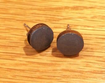 Grey 10mm Stud Earrings