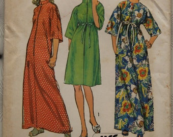 1970s Simplicity 6048- Misses and Womens Jiffy Robe in Two Lengths- Vintage Pattern Size 16 18 Bust 38 40 UNCUT