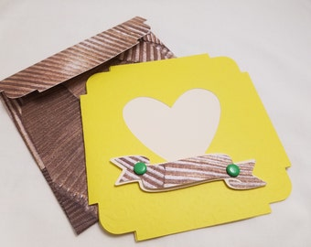 Just Because of You Card, Handmade, Set of two
