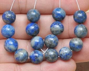 8mm DESTASH>> Blue  Copper Lapis  Lazuli   8mm Gemstone Beads
