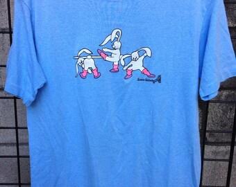 Aerobic Bunnies Shirt Vintage 1980s Sweats Unlimited Bunny  Tee T 50/50