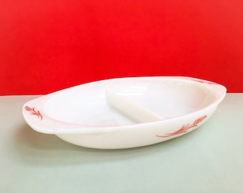 JAJ Pyrex 'Wheatsheaf' snack server (c. 1960-61)